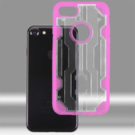Asmyna Hybrid Protector Cover for Apple iPhone 8/7 - Transparent Clear / Transparent Hot Pink Chali
