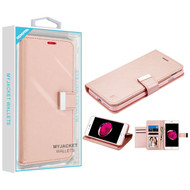 Asmyna MyJacket Wallet Xtra Series for Apple iPhone 8 Plus/7 Plus - Rose Gold