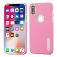 Asmyna Hybrid Protector Cover for Apple iPhone XS/X - Pink / Gray