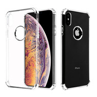 Asmyna Klarion Candy Skin Cover for Apple iPhone XS Max - Electroplating Silver / Transparent Clear