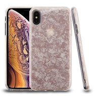 Asmyna Hybrid Protector Cover for Apple iPhone XS Max - Pink Jade Texture Full