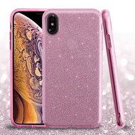 Asmyna Full Glitter Hybrid Protector Cover for Apple iPhone XS Max - Pink
