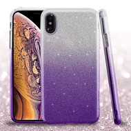 Asmyna Gradient Glitter Hybrid Protector Cover for Apple iPhone XS Max - Purple