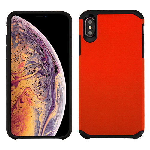 Asmyna Astronoot Protector Cover for Apple iPhone XS Max - Red / Black