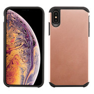 Asmyna Astronoot Protector Cover for Apple iPhone XS Max - Rose Gold / Black