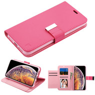 Asmyna MyJacket Wallet Xtra Series for Apple iPhone XS Max - Hot Pink / Pink