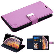 Asmyna MyJacket Wallet Xtra Series for Apple iPhone XS Max - Purple / Dark Blue