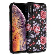 Asmyna Astronoot Protector Cover for Apple iPhone XS Max - Pinky White Rose / Black