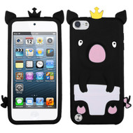 Asmyna Crown Piggie Pastel Skin Cover for Apple iPod touch (5th generation) - Black