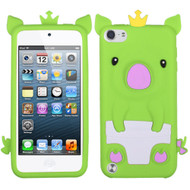 Asmyna Crown Piggie Pastel Skin Cover for Apple iPod touch (5th generation) - Green