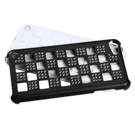 Asmyna Diamante Duple Protector Cover for Apple iPod touch (5th generation) - Silver Checker / Black / White