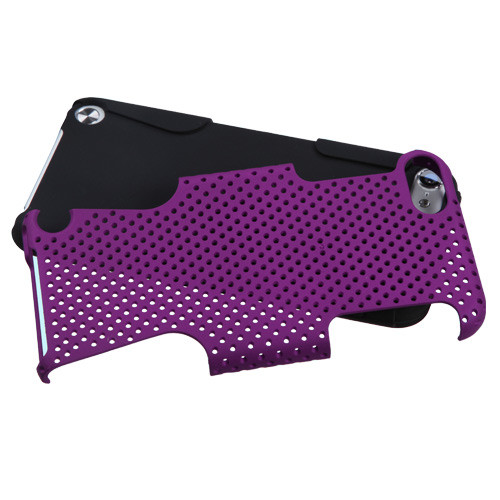 Asmyna Astronoot Protector Cover for Apple iPod touch (5th generation) - Purple / Black