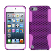 Asmyna Astronoot Protector Cover for Apple iPod touch (5th generation) - Purple / Electric Pink