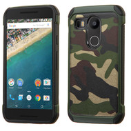 Asmyna Astronoot Protector Cover for Lg H790 (Nexus 5X) - Camouflage Green Backing / Black