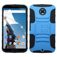 Asmyna Advanced Armor Stand Protector Cover for Motorola XT1103 (Nexus 6) - Dark Blue / Black