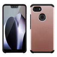 Asmyna Astronoot Protector Cover for Google Pixel 3 XL - Rose Gold / Black