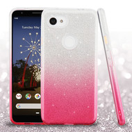 Asmyna Gradient Glitter Hybrid Protector Cover for Google Pixel 3a XL - Pink