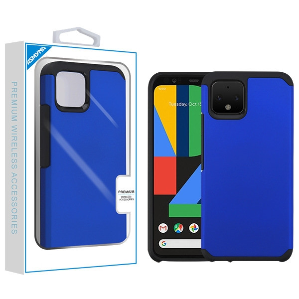 Asmyna Astronoot Protector Cover for Google Pixel 4 - Blue / Black