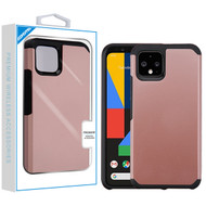 Asmyna Astronoot Protector Cover for Google Pixel 4 - Rose Gold / Black