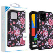 Asmyna Astronoot Protector Cover for Google Pixel 4 - Pinky White Rose / Black