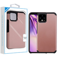 Asmyna Astronoot Protector Cover for Google Pixel 4 XL - Rose Gold / Black