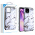 Asmyna Astronoot Protector Cover for Google Pixel 4 XL - White Marbling / Iron Grey