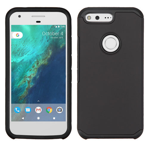 Asmyna Astronoot Protector Cover for Google Pixel (5.0) - Black / Black