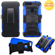 Asmyna Advanced Armor Stand Protector Cover Combo (with Black Holster) for Google Pixel XL (5.5) - Black /  Blue