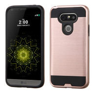 Asmyna Brushed Hybrid Protector Cover for Lg G5 - Rose Gold / Black