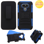 Asmyna Advanced Armor Stand Protector Cover Combo (with Black Holster) for Lg G5 - Black / Dark Blue