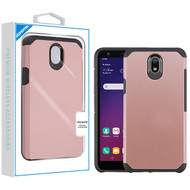Asmyna Astronoot Protector Cover for Lg X320 (Escape Plus) - Rose Gold / Black