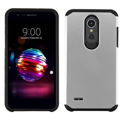 Asmyna Astronoot Protector Cover for Lg K10 (2018) - Silver / Black