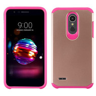 Asmyna Astronoot Protector Cover for Lg K10 (2018) - Rose Gold / Hot Pink