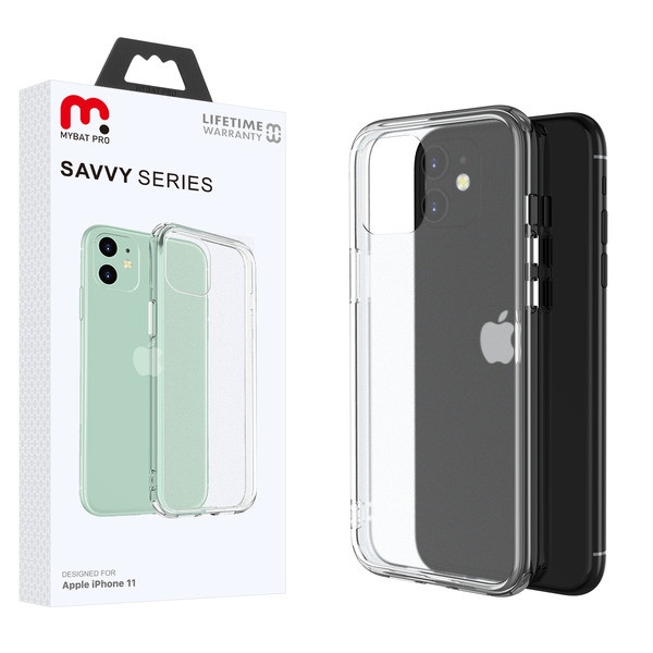 MyBat Pro Savvy Series Hybrid Case for Apple iPhone 11 - Transparent Clear Frosted / Transparent Clear