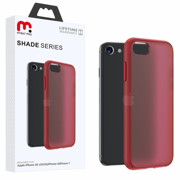 MyBat Pro Shade Series Hybrid Case for Apple iPhone SE (2020) - Semi Transparent Burgundy