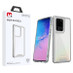 MyBat Pro Lux Series Hybrid Case for Samsung Galaxy S20 Ultra (6.9) - Silver / Transparent Clear