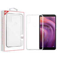 MyBat Sturdy Gummy Cover for Alcatel 5032w (3v 2019) - Highly Transparent Clear / Transparent Clear