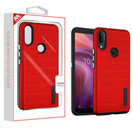 MyBat Fusion Protector Cover for Alcatel 5032w (3v 2019) - Red Dots Textured / Black