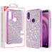 MyBat Encrusted Rhinestones Hybrid Case for Alcatel 5032w (3v 2019) - Electroplated Purple / Purple