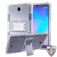 MyBat TUFF Hybrid Protector Cover (with Stand) [Military - Grade Certified] for Alcatel JOY TAB - Transparent Clear / Transparent Clear