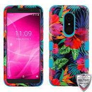 MyBat TUFF Hybrid Protector Cover [Military-Grade Certified] for Alcatel Revvl 2 - Electric Hibiscus / Tropical Teal