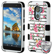 MyBat TUFF Hybrid Protector Cover [Military-Grade Certified] for Alcatel Walters - Pink Fresh Roses / Black