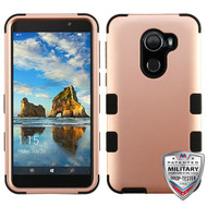 MyBat TUFF Hybrid Protector Cover [Military-Grade Certified] for Alcatel Walters - Rose Gold / Black