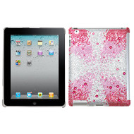 MyBat Gem Gradients Diamante SmartSlim Back Protector Cover for Apple iPad 2 (A1395,A1396,A1397) - Pink Starburst