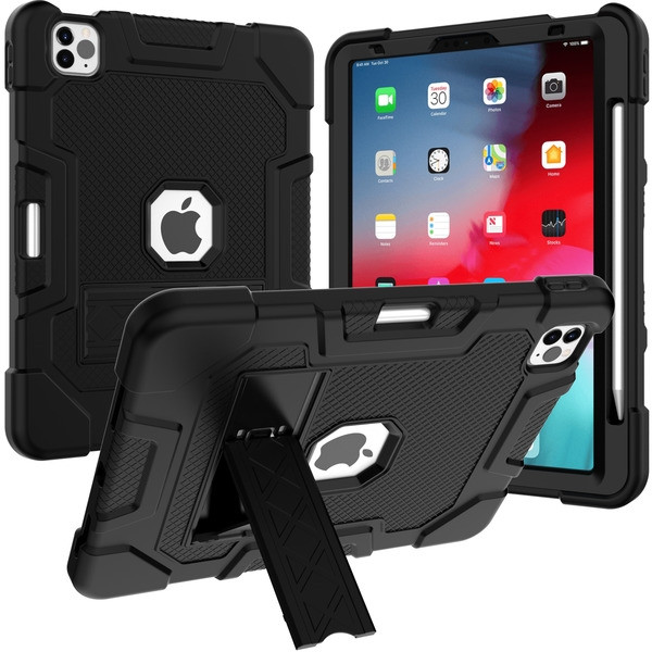 MyBat Symbiosis Stand Protector Case for Apple iPad Air 10.9 (2020) - Black / Black