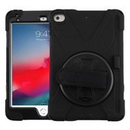 MyBat Rotatable Stand Protector Cover (with Wristband) for Apple iPad mini (2019) - Black / Black
