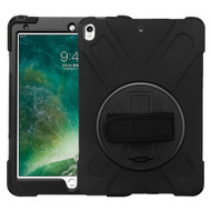 MyBat Rotatable Stand Protector Cover (with Wristband) for Apple iPad Pro 10.5 (A1701,A1709,A1852) - Black / Black
