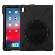 MyBat Rotatable Stand Protector Cover (with Wristband) for Apple iPad Pro 11 (2018) (A1934,A1979,A1980,A2013) - Black / Black