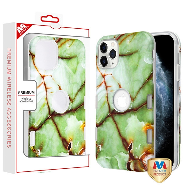MyBat TUFF Subs Hybrid Case for Apple iPhone 11 Pro - Onice Verde Persiano Marble / Transparent Clear