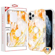 MyBat TUFF Subs Hybrid Case for Apple iPhone 11 Pro - Nuvolato Etrusco Marble / Transparent Clear